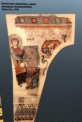 Biblia múzeum - Palesztina, Dávid király ábrázolás Kr.u. 509