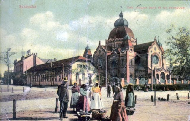 Osztrák- Magyar Bank, zsidó iskola és Zsinagóga,klap