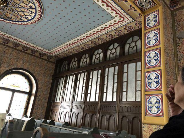Szabadka IMG_4989 Régi zsinagóga, közösségi nagyterembe nyíló fal