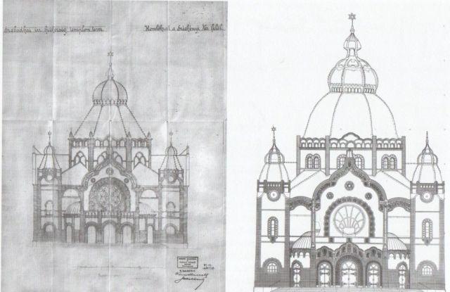 Zsinagóga 2. és 3. terv, Forrás - Klein Rudolf: A szabadkai zsinagóga