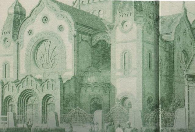 zsinagóga kerítése korabeli klap