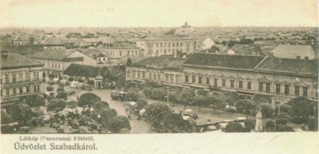 Szabadka főtér panoráma, 1904