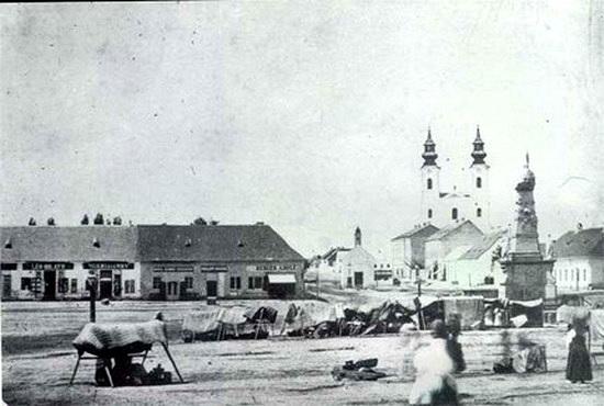 Szabadka Piactér 1870-ből