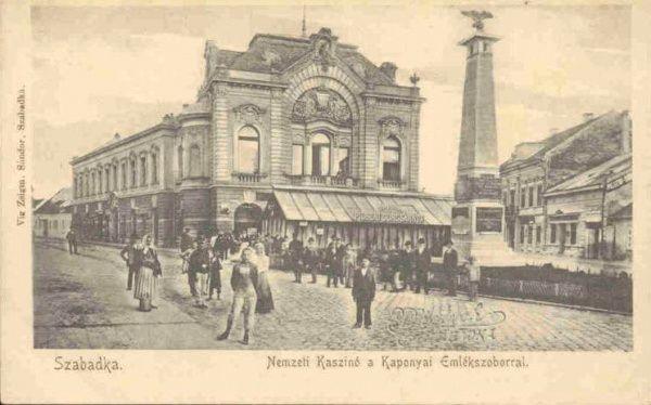 Szabadka Nemzeti Kaszinó és Kaponyai emlékszobor