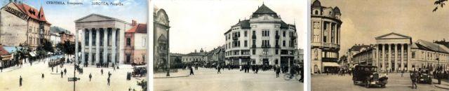 Szabadka- Népszínház és környző épületek idő sorrendben, Kollázsok