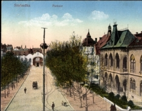 Szabadka, Raichle palota és a platánsor, klap 332545 -1