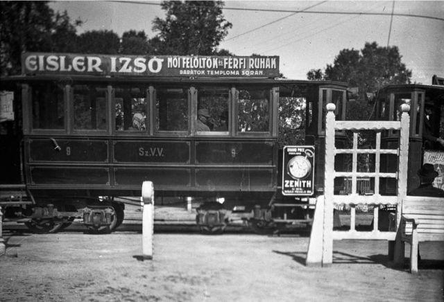 Szabadka - Palicsi villamos 1910 - Fortepan 55640