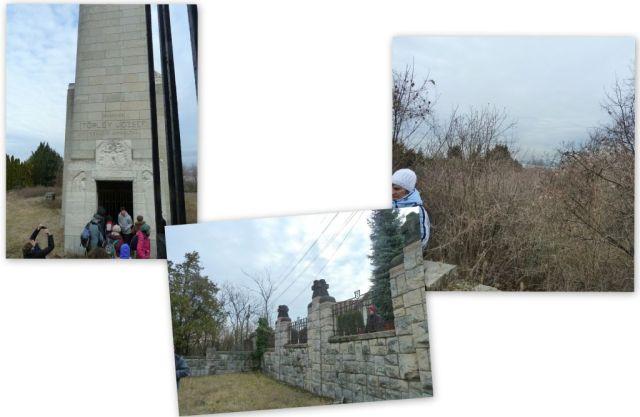 Budafok, mauzóleum kertje, kollázs