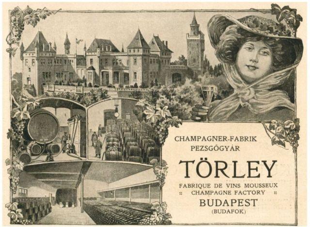 Törley reklám 1905 körül