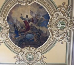 Budafok 117 Szt. Lipót plébániatemplom, Krisztus király freskó