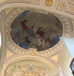 Budafok 139 Szt. Lipót plébániatemplom, Szentháromság freskó