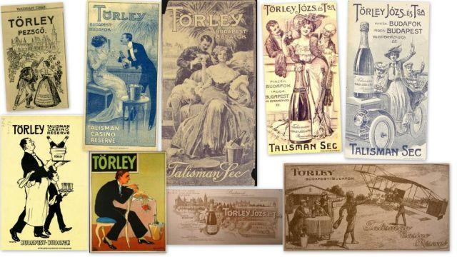 Törley pezsgő reklámok - kollázs
