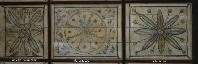 P1750489 Csengersima, jobbról-balra Atyaisten, Ősrobbanás, Az élet teremtése