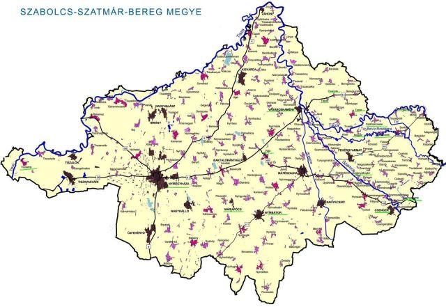 Szabolcs- Szatmár- Bereg megye tkp