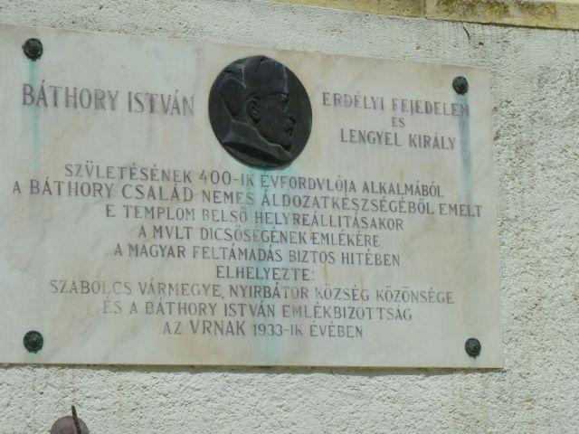 P1740690 Nyírbátor Báthory István emléktábla