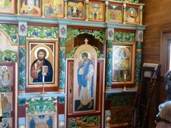 P1740546 Máriapócs ikonosztázion, Tanító Krisztus, diakónus ajtó, és a Mennybemenetel