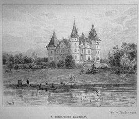 Dörre Tivadar rajz- A Tiszadobi kastély