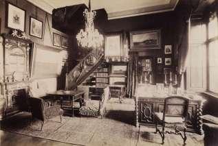 Fortepan 83480, Tiszadobi kastély dolgozó szoba