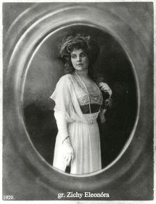 grófnő Zichy Eleonora, 1920