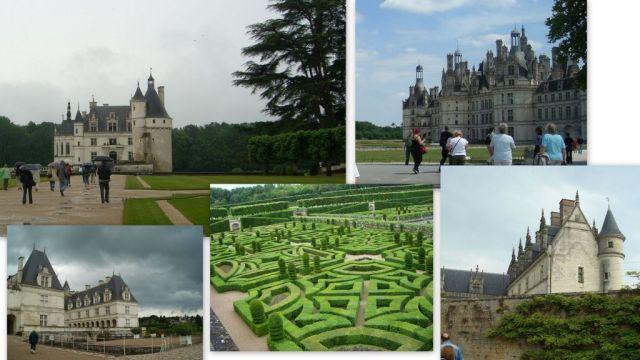 Kollázs- Loire menti kastélyok, Chambord, Chenonceau, Villandry, Amboise