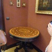 P1750861 Tiszadob, 2018.04.27.kastély, kisszalon mozaik körasztal, 19. sz.