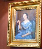 P1750881 Tiszadob, 2018.04.27. kastély, nagyszalon -Arisztokrata hölgy, ismeretlen festő