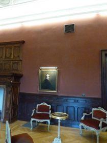 P1750891 Tiszadob, 2018.04.27. kastély, nagyszalon, John Opic- Férfiképmás 1785