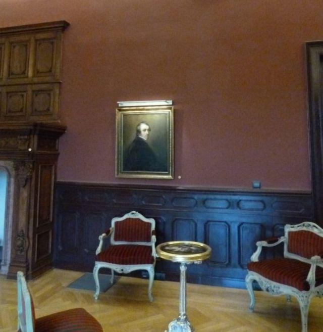 Visszaszolgáltatott kép P1750891 Tiszadob, kastély, nagyszalon, John Opic- Férfiképmás 1785