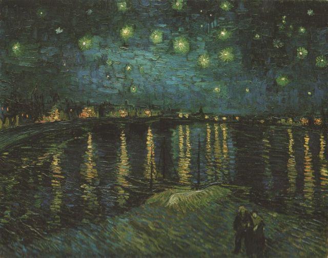 Vincent van Gogh - Csillagos éjszaka Arlesban, 1888