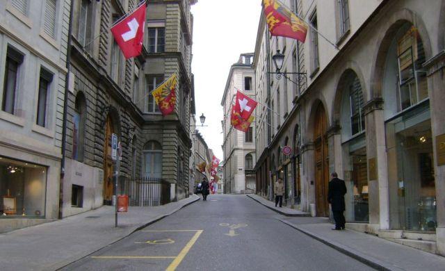 2008.12.24. 0001 Genf vieille ville, Rue de l'Hôtel-de-Ville