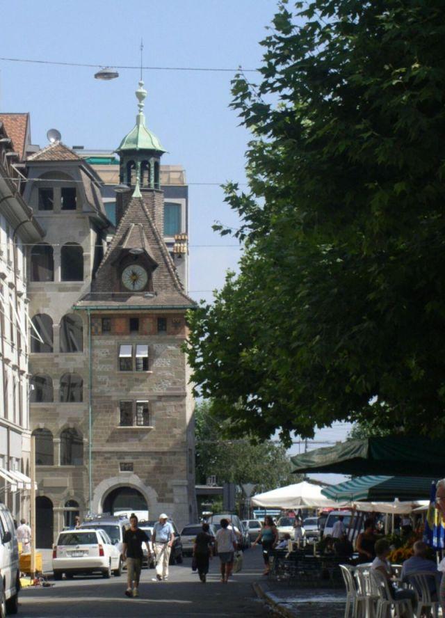Genf 058 Molard torony tér felőli oldala