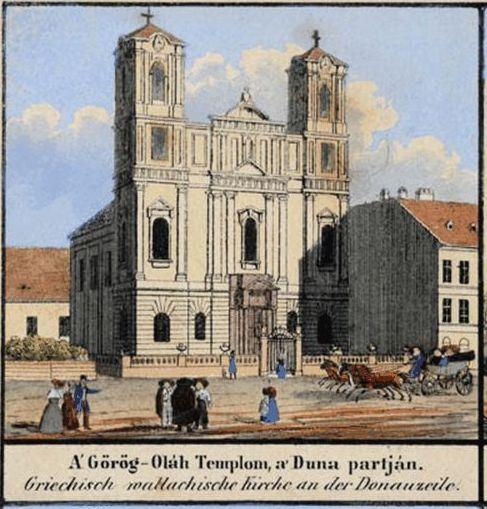 Görög templom a Duna parton - Bp. Kiscelli Múzeum képeiből
