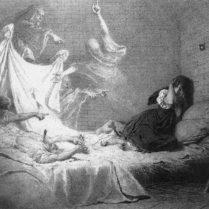 Zichy Mihály Ágnes-asszony- illusztráció