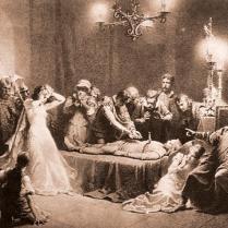 Zichy Mihály -Tetemrehivás - Arany illusztráció
